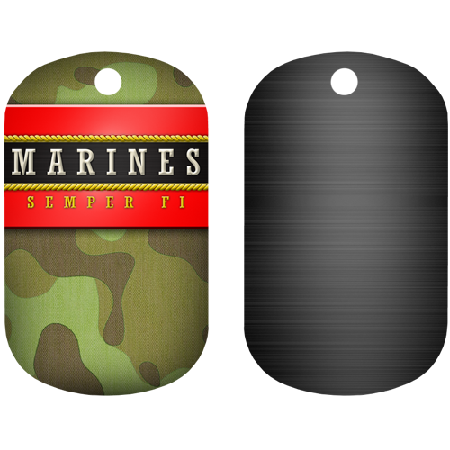 Kolorcoat™ Dog Tag - Marine