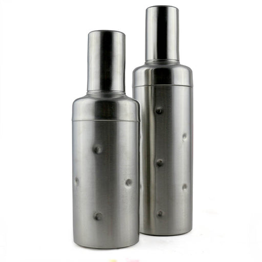 Cocktail Shaker - 3 Piece Stainless Steel Dotted (Bottle Style) - Size Options