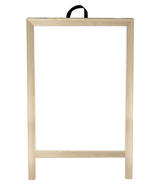 A-Frame Sidewalk Dry Erase Whiteboard – Double Sided - Natural Wood Frame