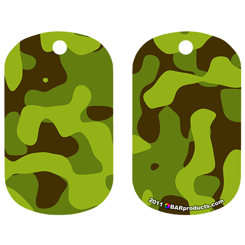 Kolorcoat™ Dog Tag - Light Green Camo