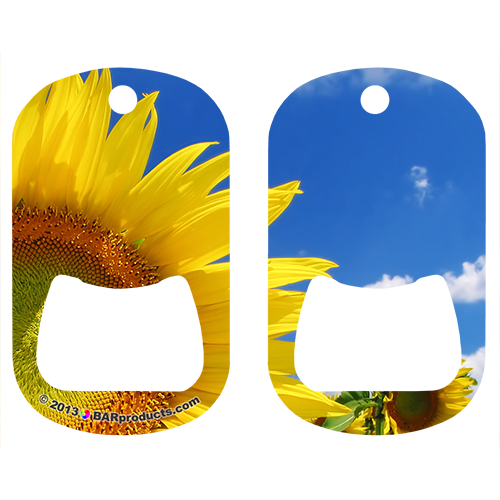 Sunflowers Dog Tag Opener