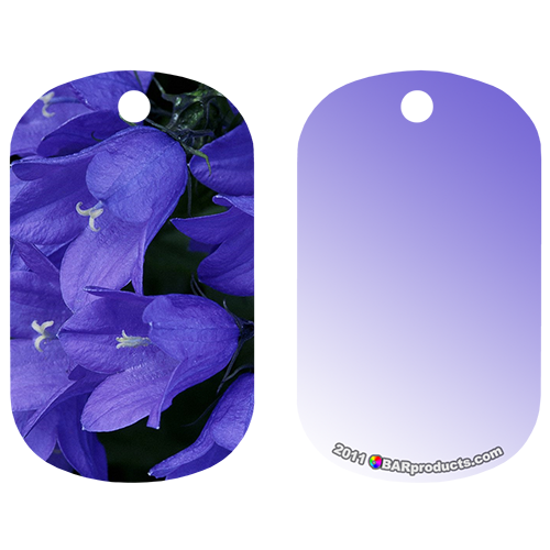 Kolorcoat™ Dog Tag - Purple Flowers