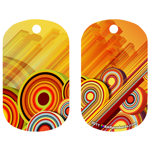 Kolorcoat™ Dog Tag - Fun Vector