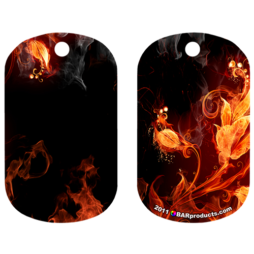 Kolorcoat™ Dog Tag - Flaming Flowers