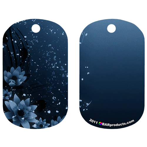 Kolorcoat™ Dog Tag - Blue Flowers