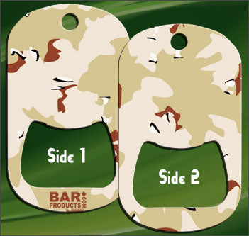 Dog Tag Opener - Tan CAMO