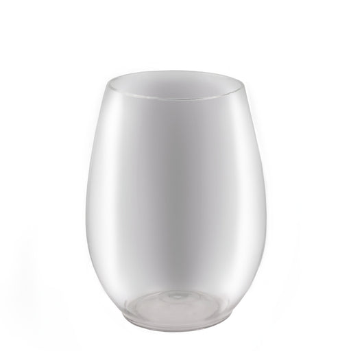 BarConic® Stemless Wine Glass -PET Clear Plastic - 15 oz
