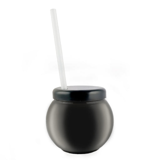 BarConic® Black Fishbowl Plastic Drinkware - 20 ounce -  With Lid and Straw