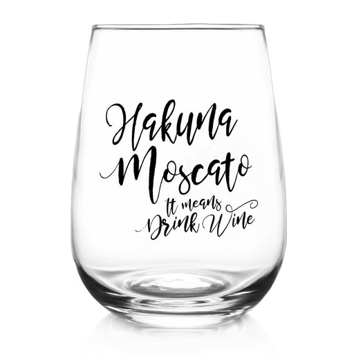 Hakuna Moscato - Stemless Wine Glass (17oz)
