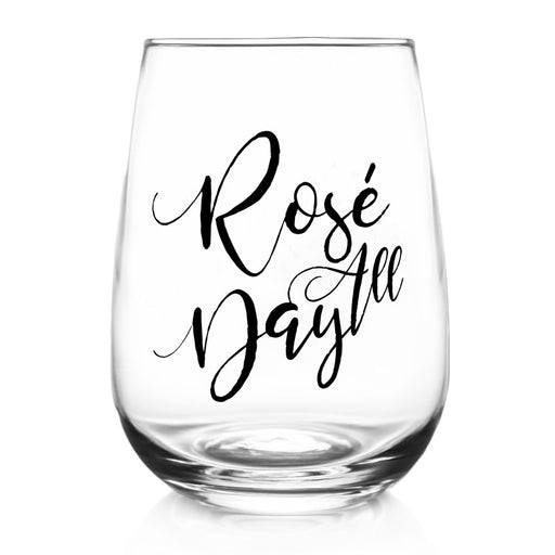 Rosé All Day - Stemless Wine Glass (17oz)