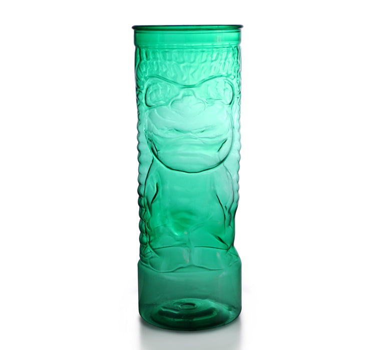 BarConic® Drinkware - Green Plastic Tiki Cup w/ Lid and Straw - 24 ounce