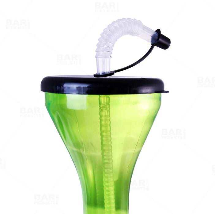 BarConic® Drinkware - Party Yard Cup - 24oz - Green with Lid & Straw
