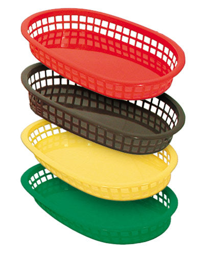 Fast Food Platter Baskets - Assorted Colors