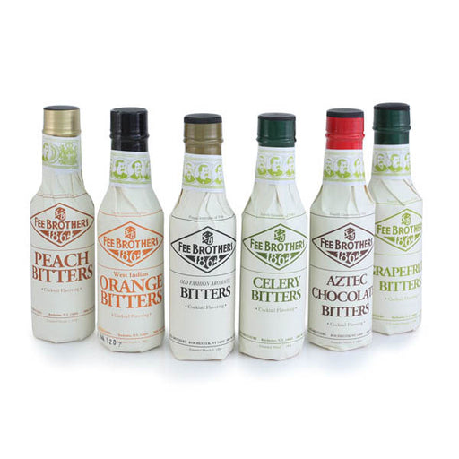 Fee Brothers Bar Cocktail Bitters Set - 6 Bottles