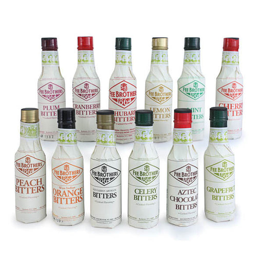 Fee Brothers Bar Cocktail Bitters Complete Set- 12 Bottles