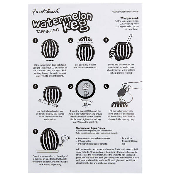 Watermelon Tapping Kit Instructions
