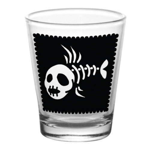 1.75 oz Shot Glass- Cutsey Skulls - Fish