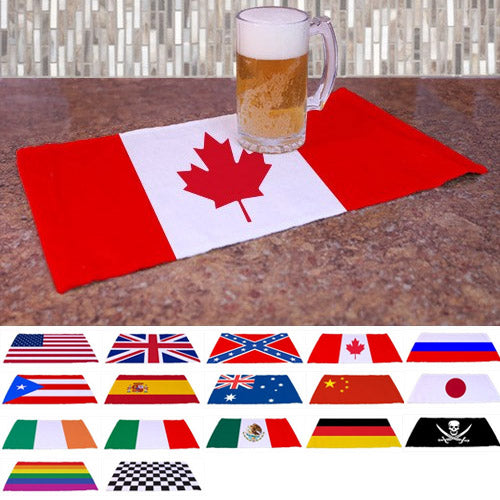 "Flags of the World Kolorcoat 18"" x 11"" Towel"