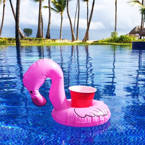Flamingo Drink Rafts - set of 3