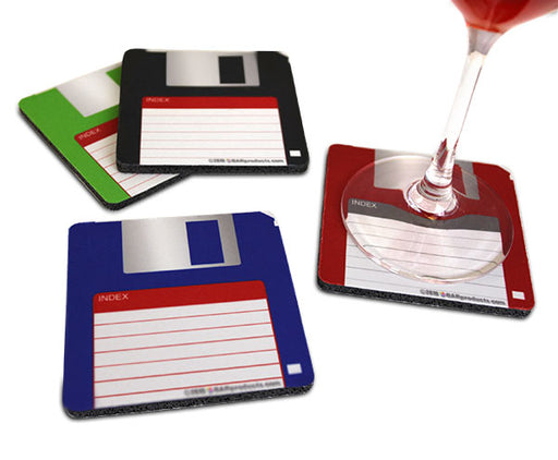 Floppy Disk Foam Kolorcoat™ Coaster- 3.5 inch Square