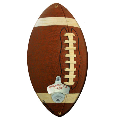 Football Shaped Wall Bottle Opener