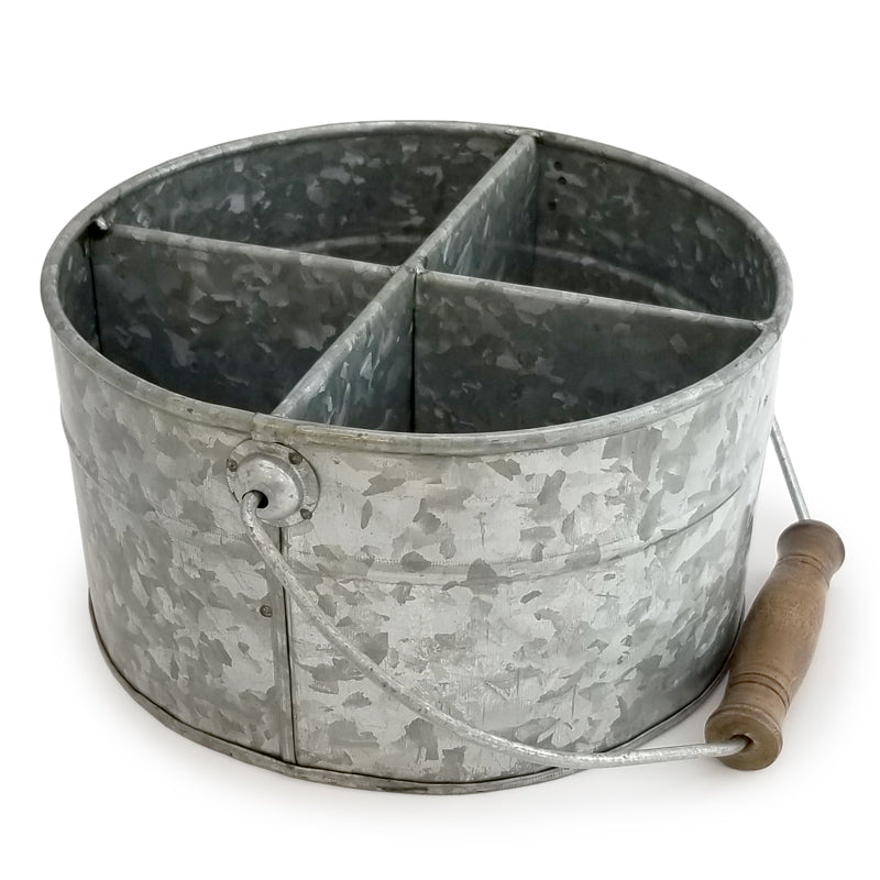 Galvanized Table Caddy - Round