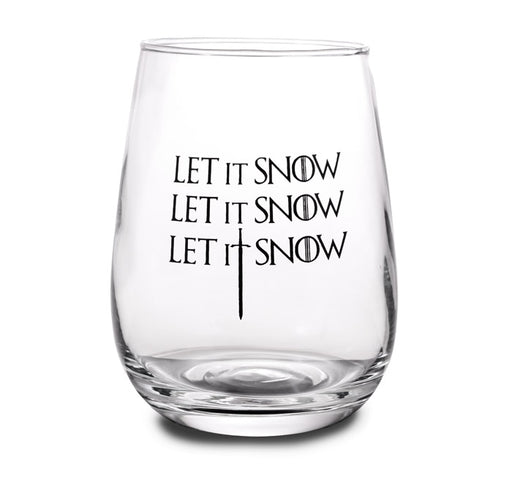Let it Snow Stemless Wine Glass