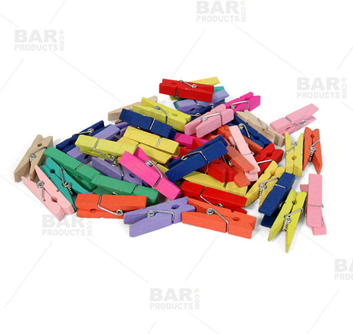 BarConic® Garnish Clips - Multi Color 100 Pack