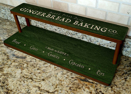 "Counter Caddies™ - Gingerbread Baking Co. - 24"" STRAIGHT Shelf"