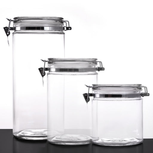 Glass Canisters - Oval with Air Tight Lid