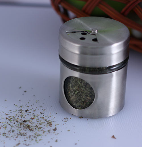 Spice Shaker - Glass & Stainless Steel - 2 ounce