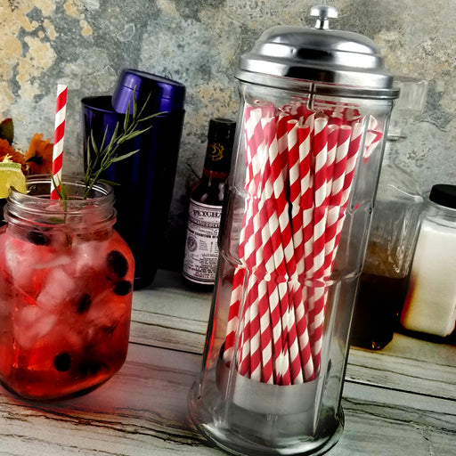 BarConic® Glass Straw Dispenser - Vintage Style