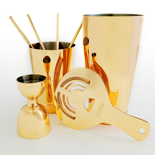 Olea™ 8 Pieced Bar Set - Gold Plated