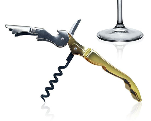 Gold Plated Corkscrew - Duo-Lever