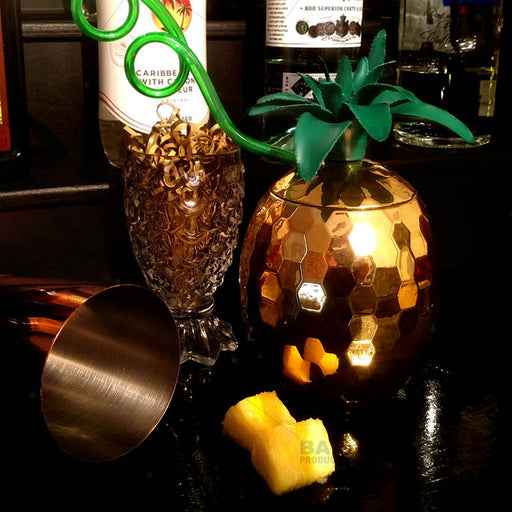 Gold Pineapple Disco Novelty Cup - 28 ounce