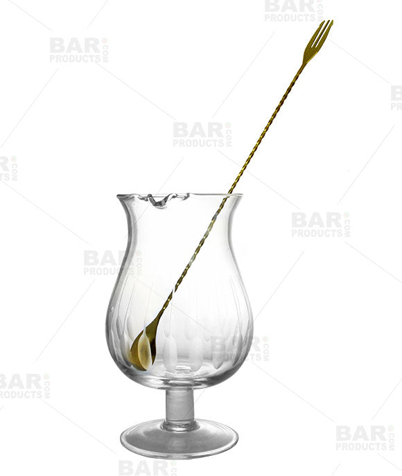Gold Plated Trident Bar Spoon - 40cm Long