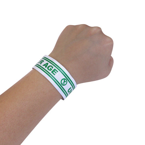 Green Under Age Numbered Wristbands – 500 count