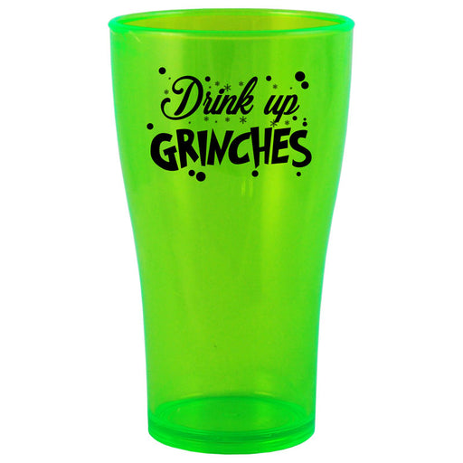 BarConic® Drinkware - Drink Up Grinches Polycarbonate Cup - Neon Green - 2 Sizes