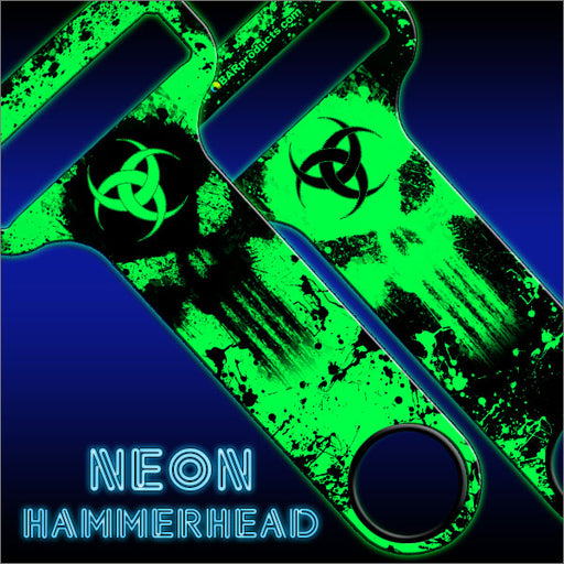 HAMMERHEAD™ Bottle Opener - Biohazard Skull - GREEN