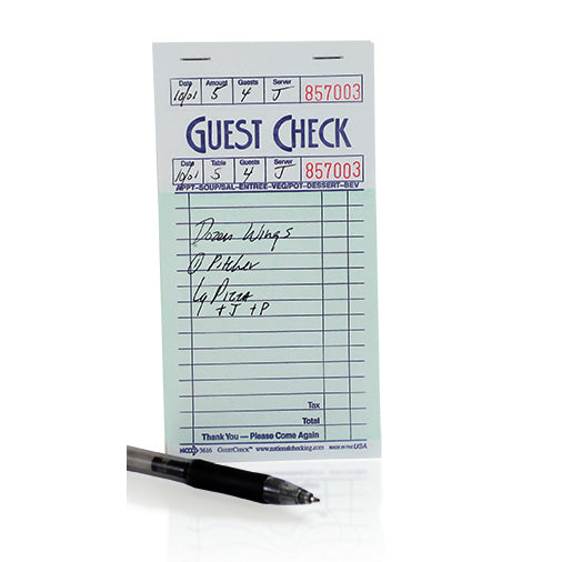 16 Line Guest Check Paper (Case of 50)