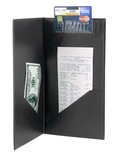 Guest Check Presenter with Credit Card and Receipt / Cash Pocket