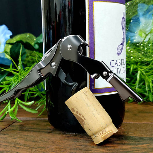 Corkscrew / Wine Opener - Double Lever - Gunmetal Plated