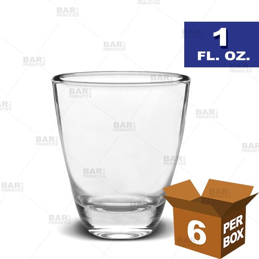 BarConic® Barrel Shot Glass - 1 oz [Box of 6]