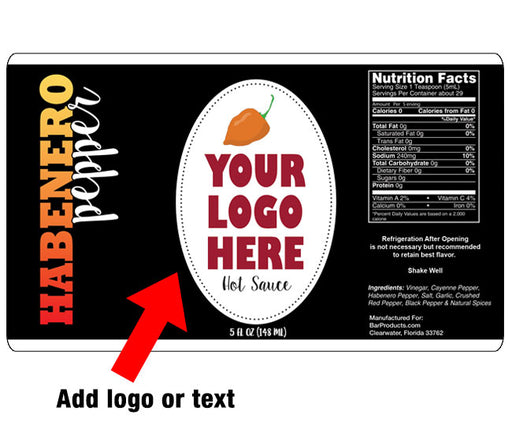 ADD YOUR NAME - Habenero Custom Hot Sauce Label