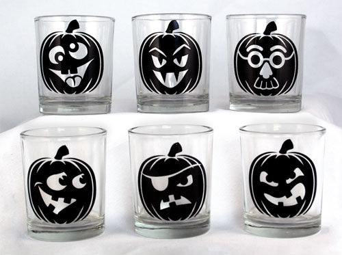 Votive/Shot Glass - Jack O'Lantern - 2.5 Ounce