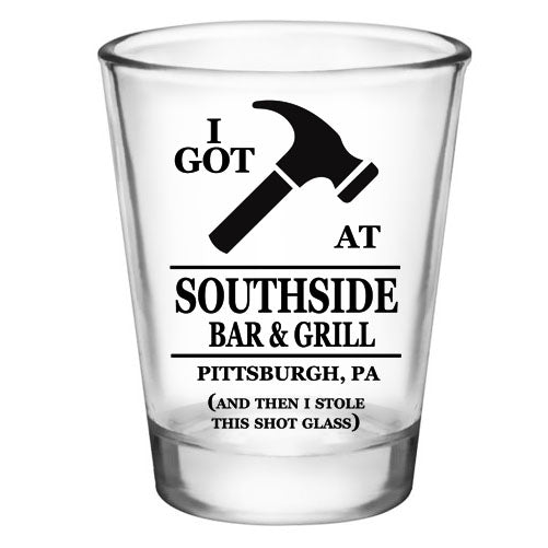 CUSTOMIZABLE - 1.75oz Clear Shot Glass - I Got Hammered