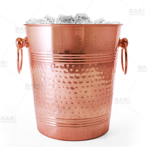 Copper Ice Bucket - Old Dutch Hammered Style
