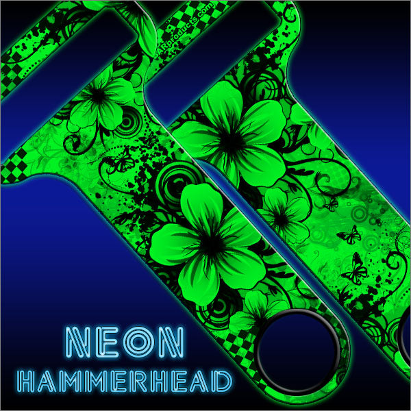 HAMMERHEAD™ NEON Bottle Opener - Cool Floral - GREEN