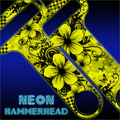 HAMMERHEAD™ NEON Bottle Opener - Cool Floral - YELLOW