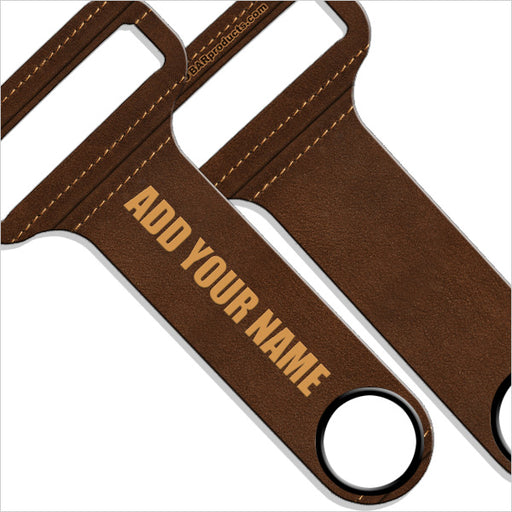 """ADD YOUR NAME"" HAMMERHEAD™ Bottle Opener - Brown Leather"